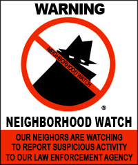 image of a Neighborhood Watch poster